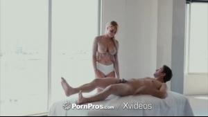 Blonde Skyla Novea gets a cumshot after some rough sex