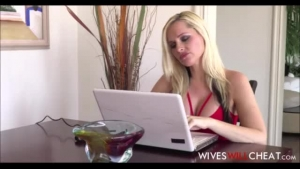 Cock loving blonde asked for a relaxing massage she will never get, since she never gets pussy
