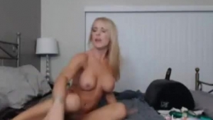 Lecherous Oriental blonde rides away dicks with her boot