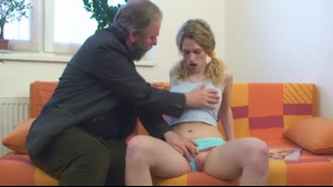Petite blonde is making love with a guy who is not her partner, because she likes him