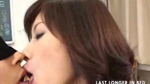 Hot asian teacher getting clamped silly